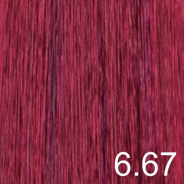 Color de cabello rubio oscuro rojo intenso